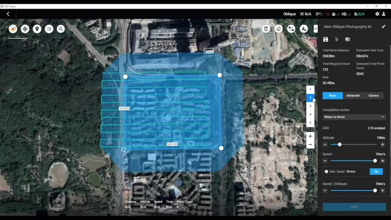 DJI Terra Oblique Mission Planning