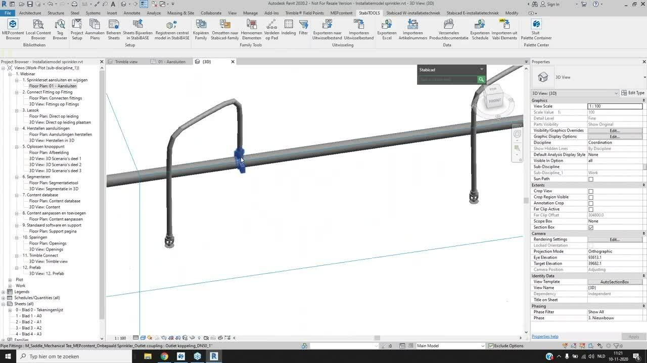 Webinar opname NL Stabicad for Revit Sprinkler [10 NOV]
