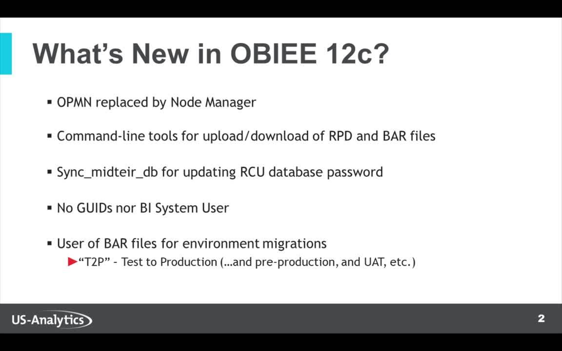 Whats New in OBIEE 12c