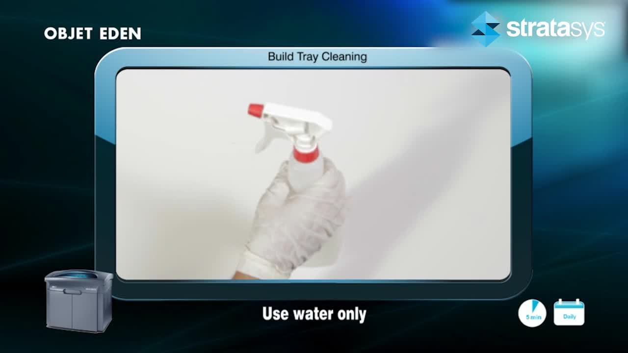 Build Tray Cleaning - Eden