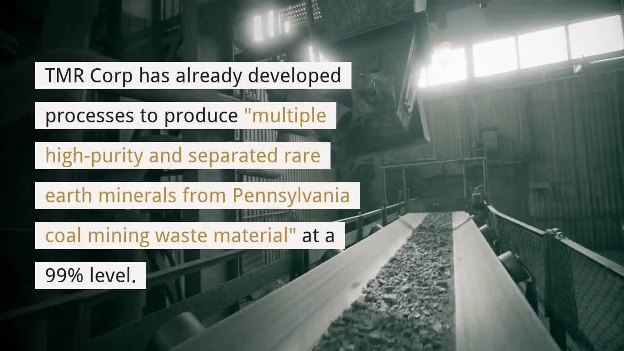 Rare Earth Minerals From Coal Mining Waste