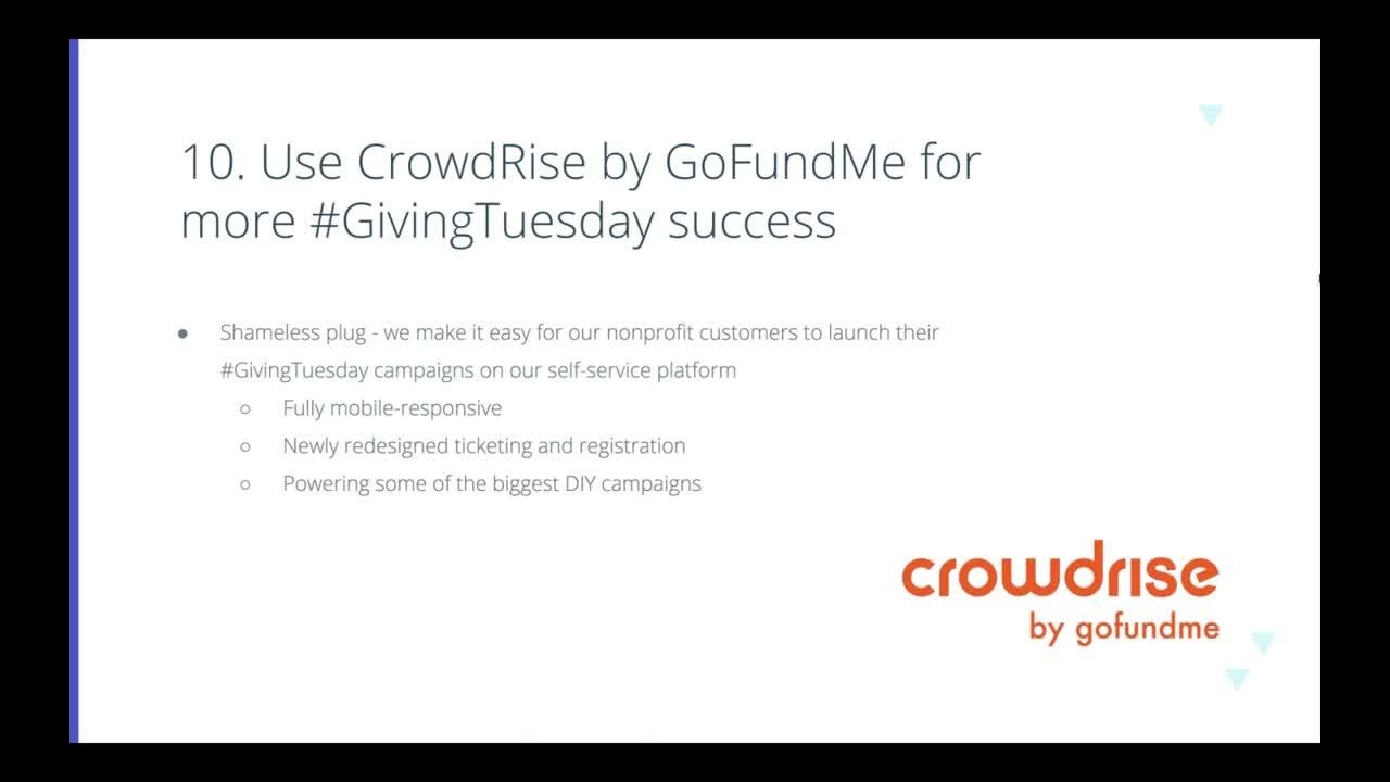 10 Fundraising Tips for a Successful #GivingTuesday 2019