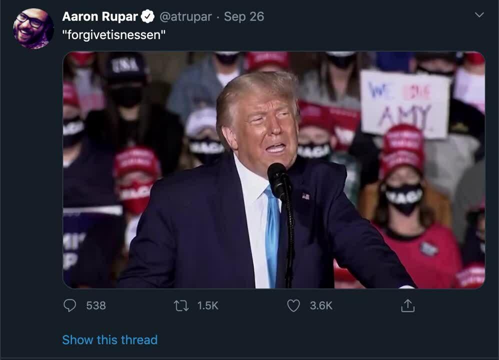 Trump, mispronounce rupar