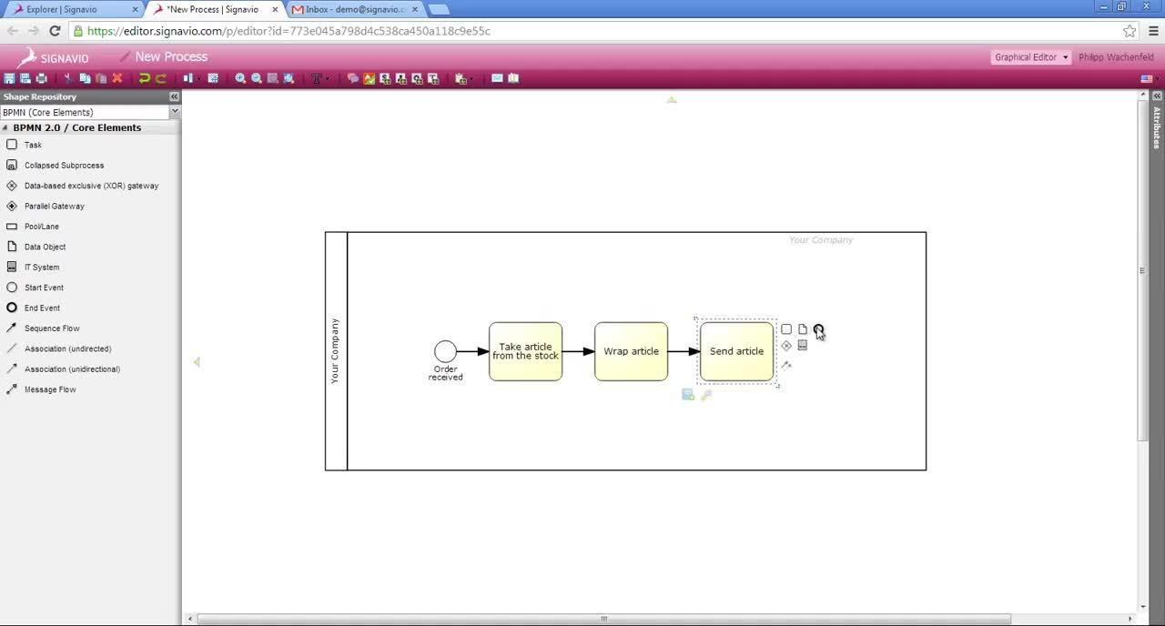 Signavio BPM Tutorial Video - Creating Process Models and Inviting People to Comment