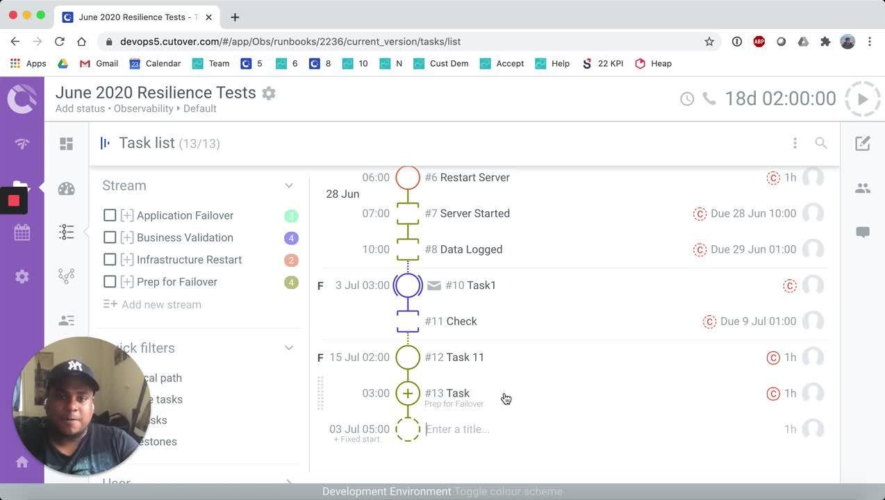 Checklist Task, Fixed End Demo
