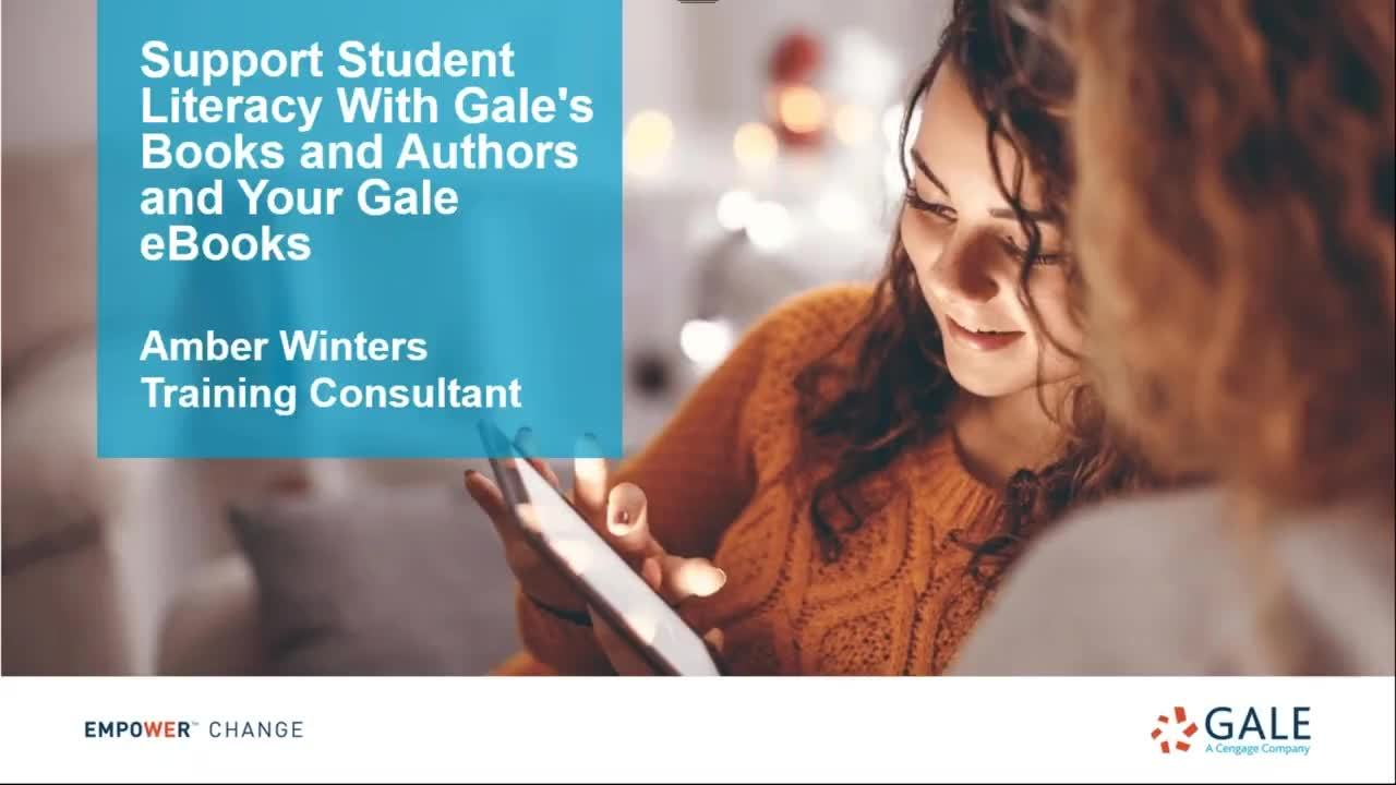 Support Student Literacy With Gale's Books and Authors and Your Gale eBooks Thumbnail