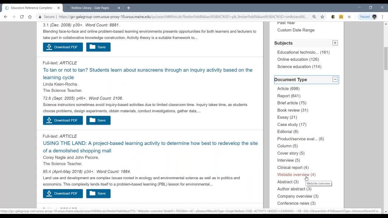 MASL Fall Forum 2018: Gale Resources from Maines Digital Library and Professional Development Thumbnail