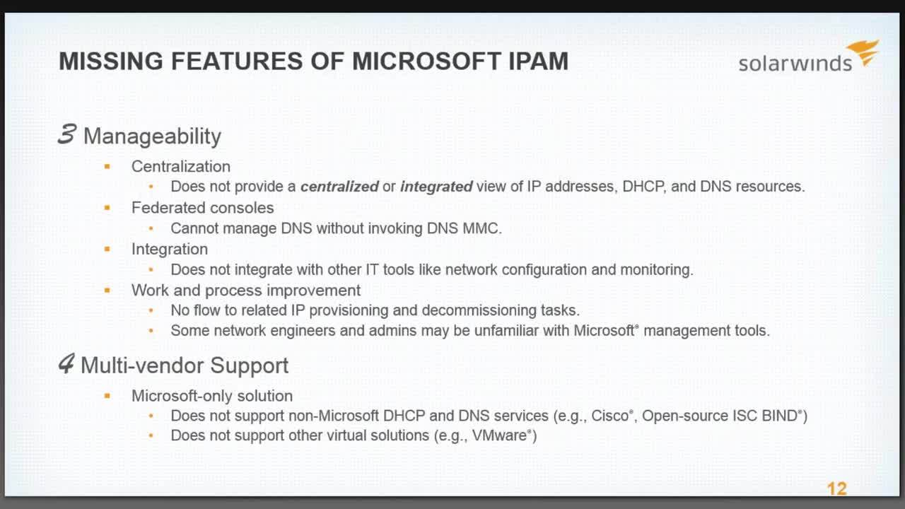 5 reasons why free microsoft ipam will cost you more webcast 5 reasons why free microsoft ipam will cost you more xflitez Image collections