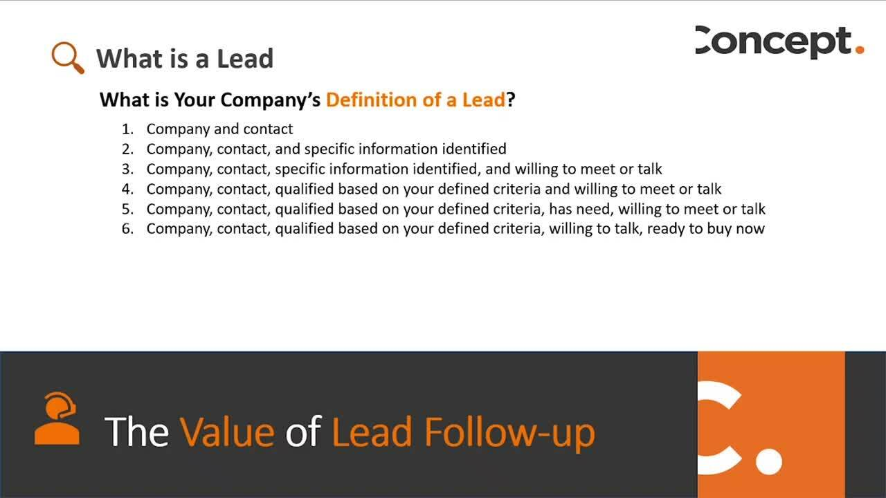 Definition of a Lead