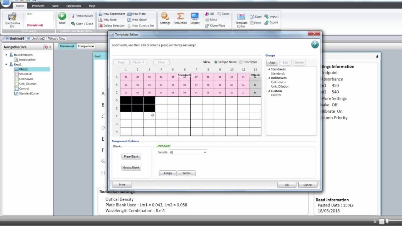 Setting up a plate template with dilution in SoftMax Pro 7 Software
