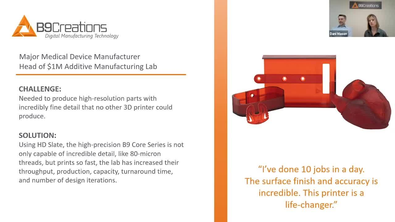 WEBINAR Implementing 3D Printing in Your Medical Environment