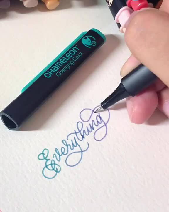 Chameleon Fineliners color blending pens ergonomic design