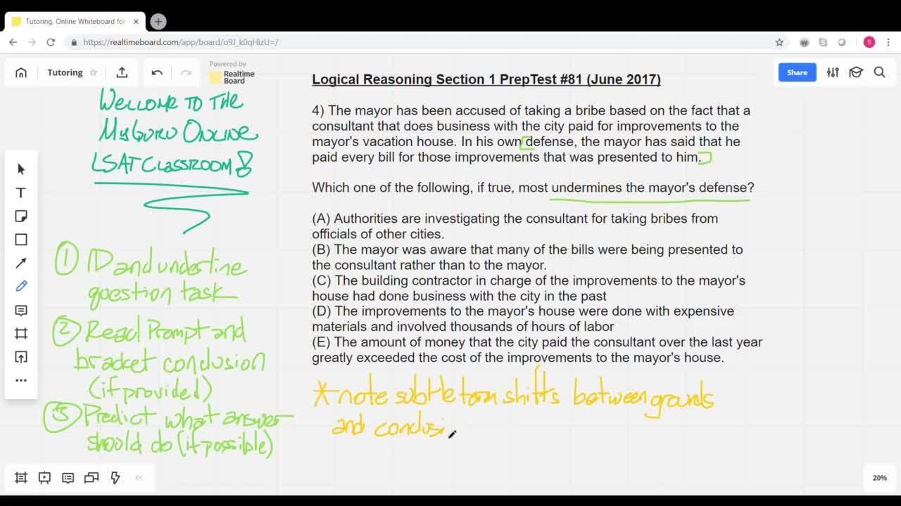LSAT LR Problem PT 81 with slides