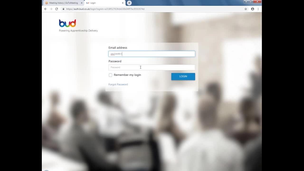 01. How to log into BUD