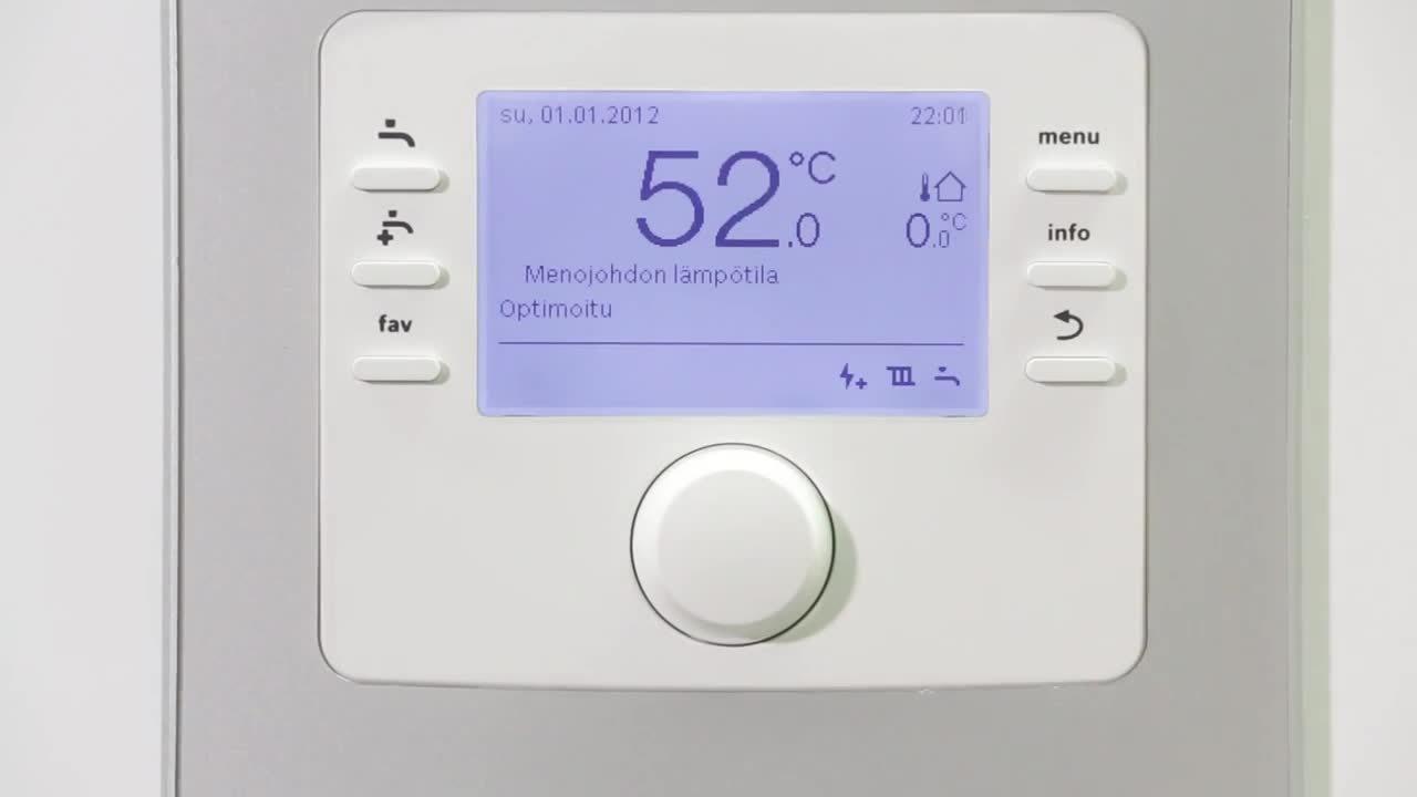 Bosch ilmavesilämpöpumpun sisälämpötilan säätö