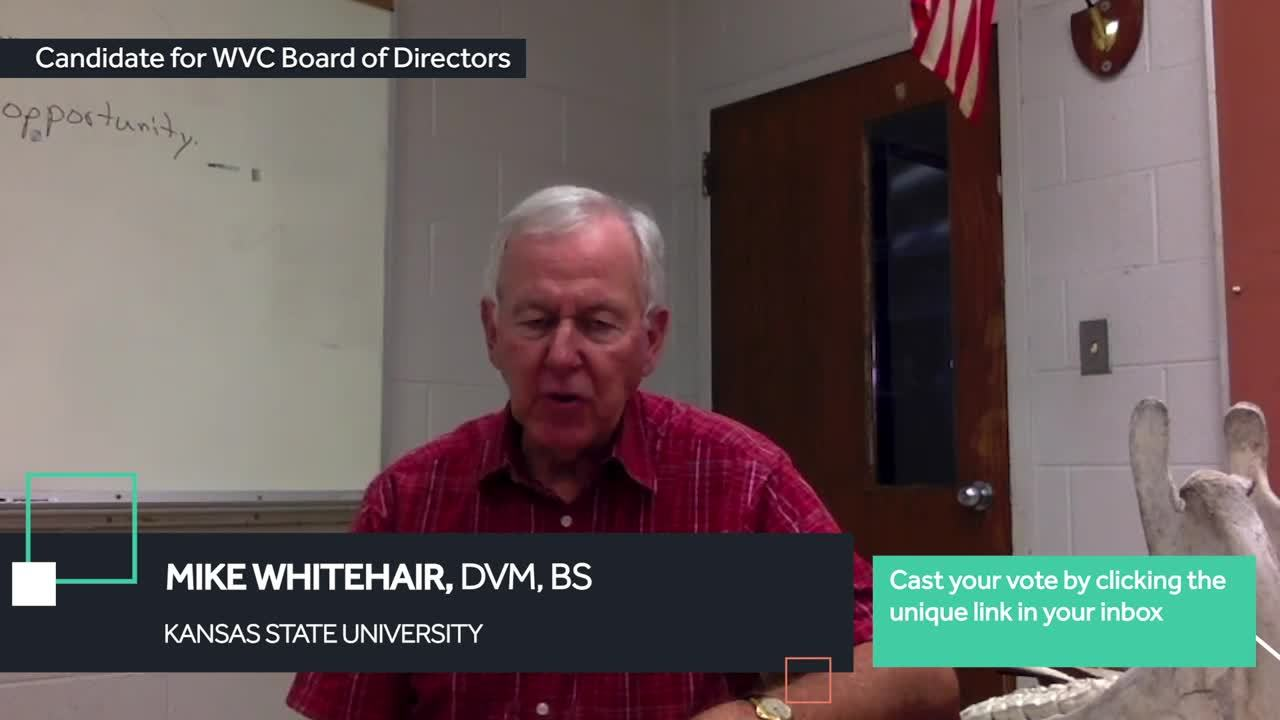 Dr. Whitehair - Board of Directors Voting 2020