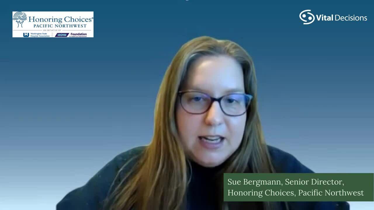Sue Bergmann Honoring Chocies PNW