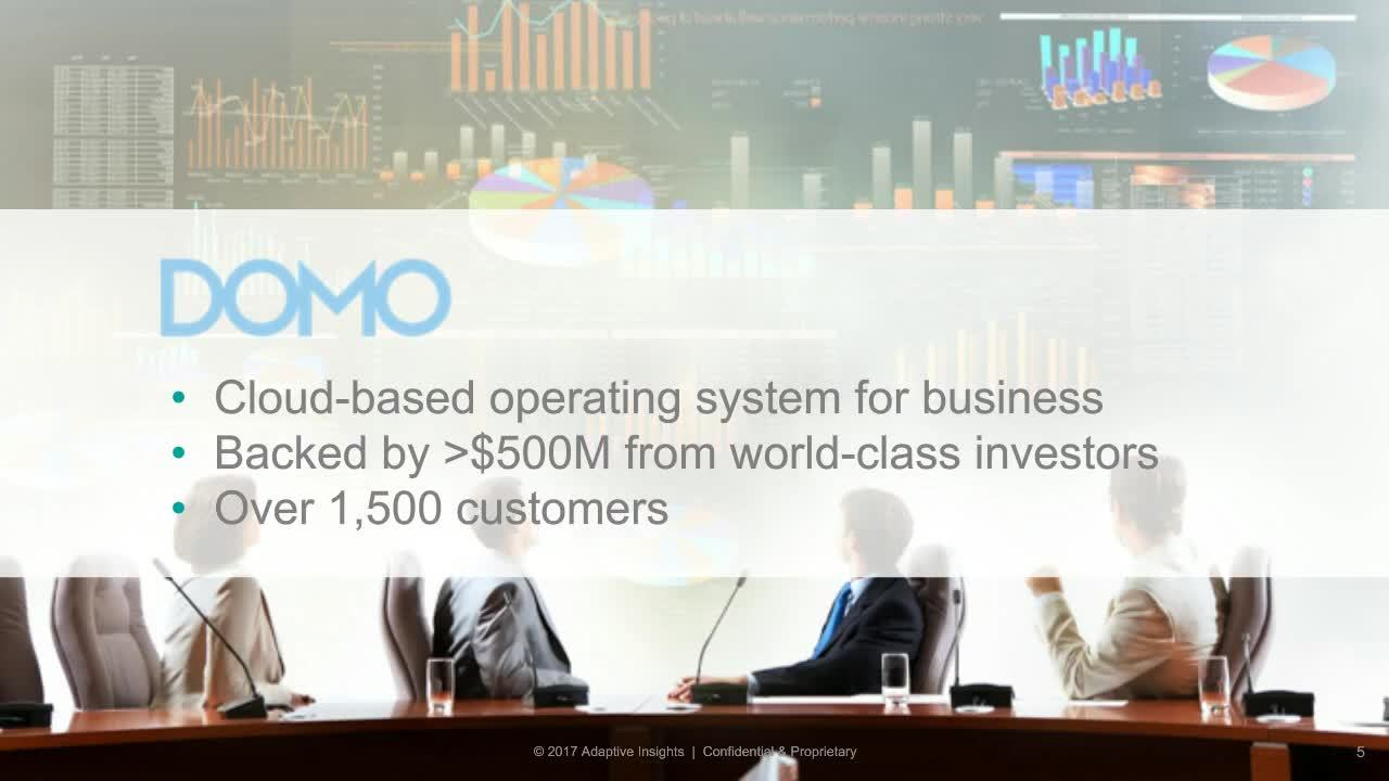 Screenshot for Customer Spotlight: Models & Dashboards Built for Growth with Domo, Inc.