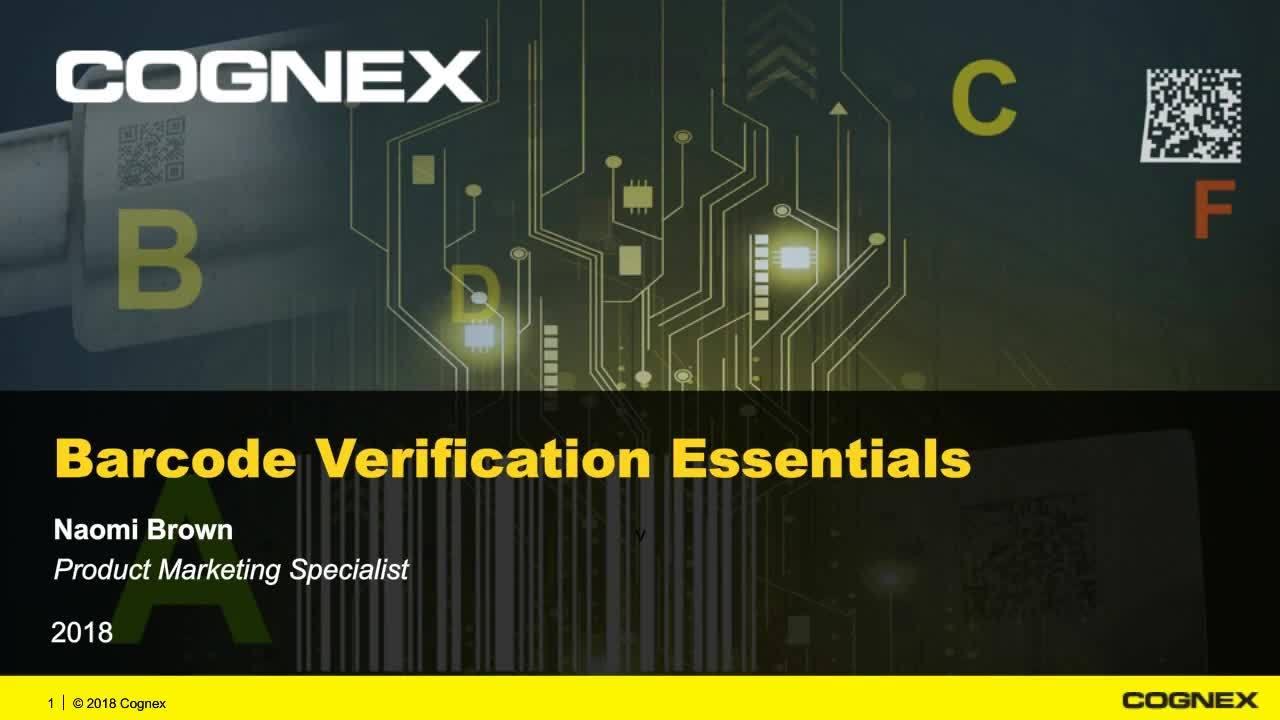 Barcode Verification introduction to barcode verification webinar