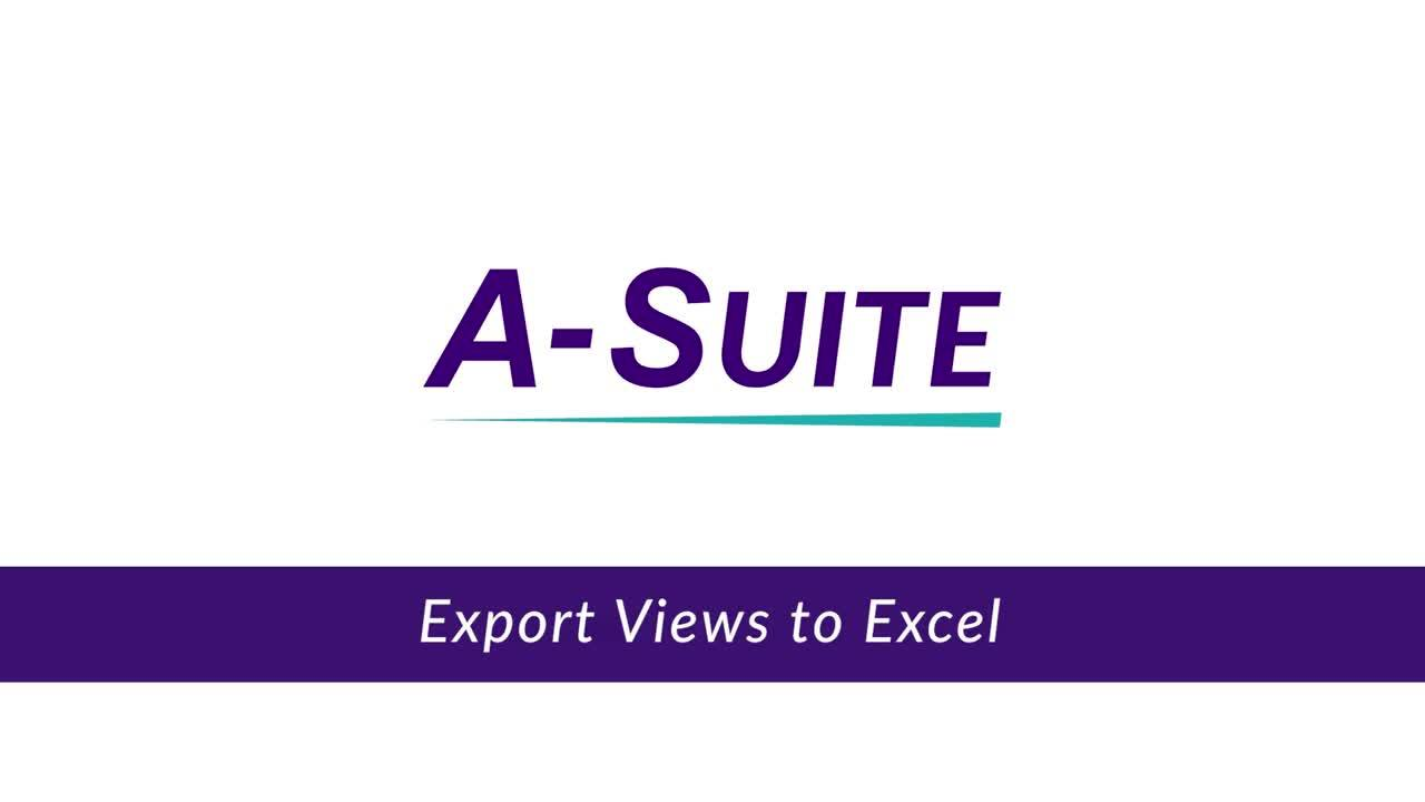 3.1.2_Exporting Views to Excel