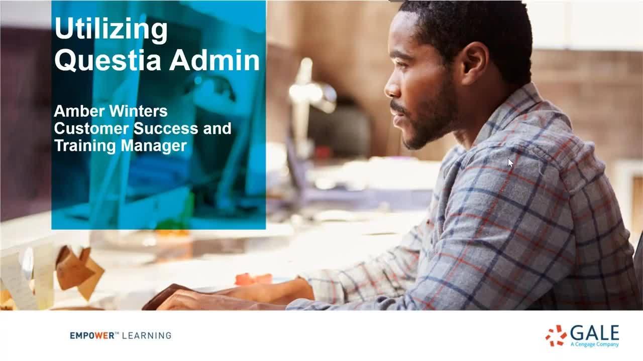 Questia Admin Webinar Thumbnail