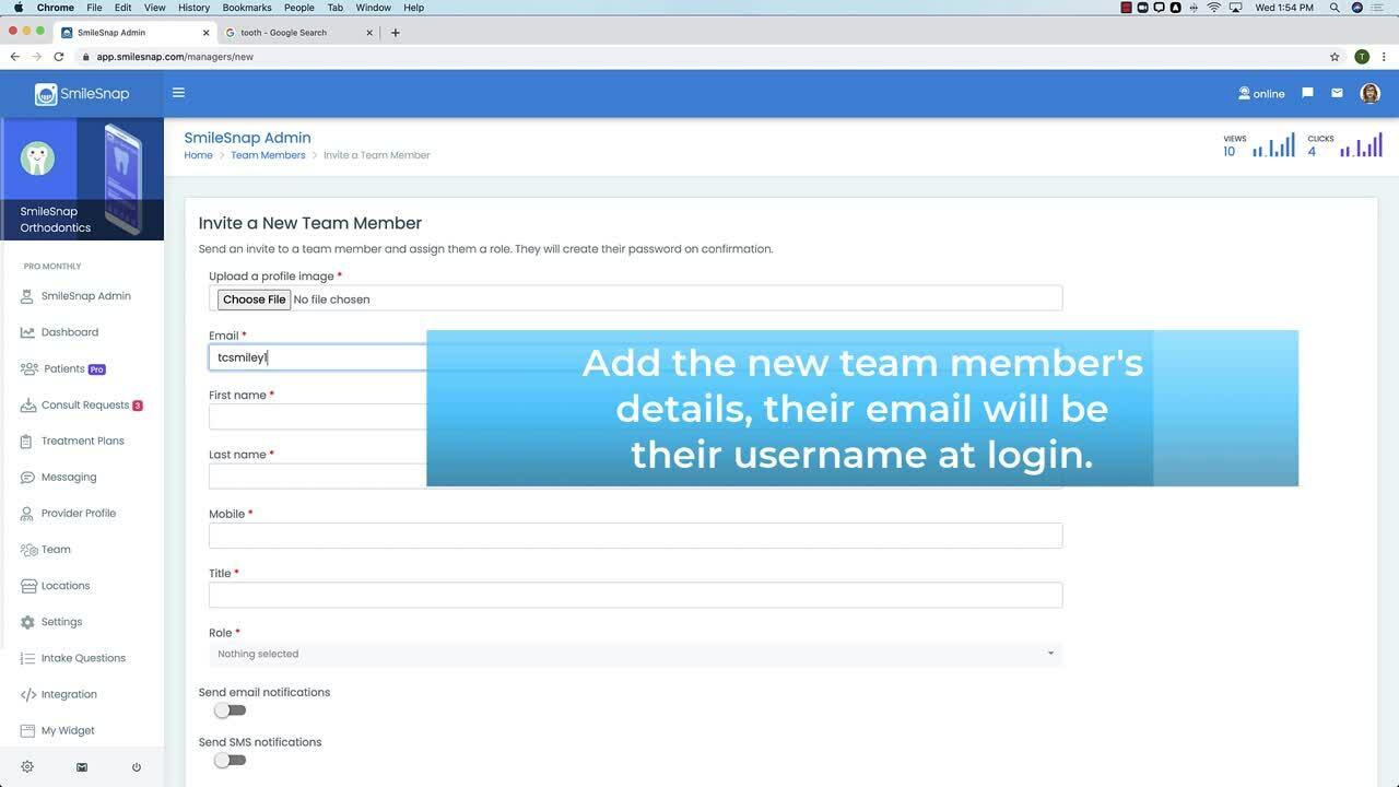 Creating new team members