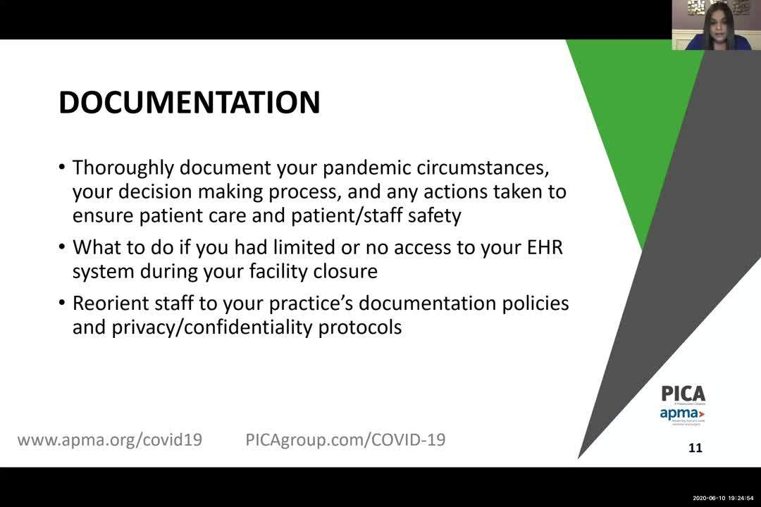 Risk Management Strategies and Other Considerations as you Provide Care and Treatment Post COVID-19