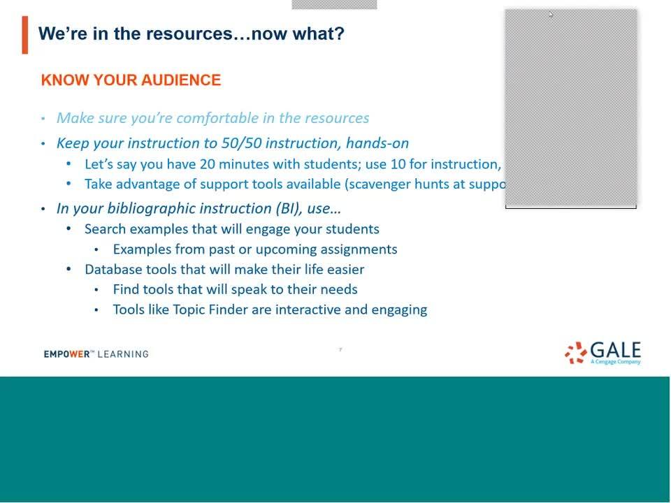 For FEL: Best Practices for Instructing Students on FEL/Gale Resources Thumbnail