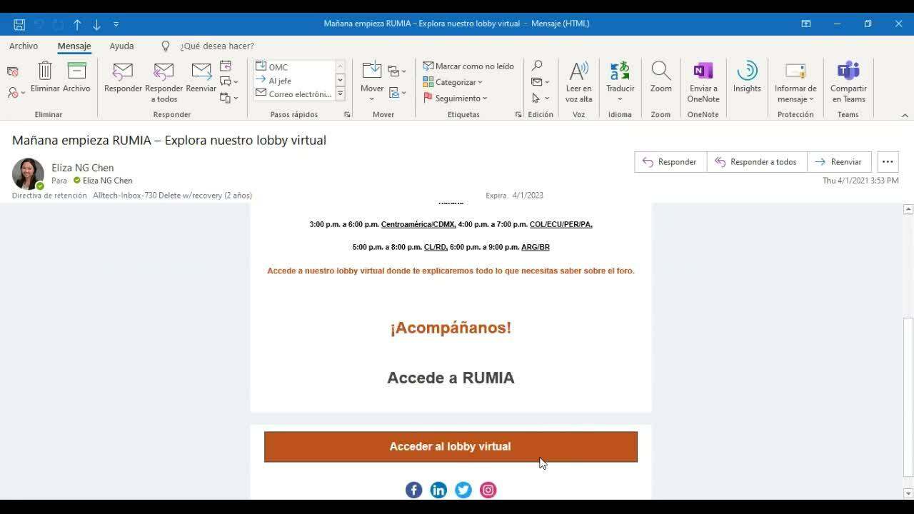 RUMIA_Acceso al Lobby Virtual