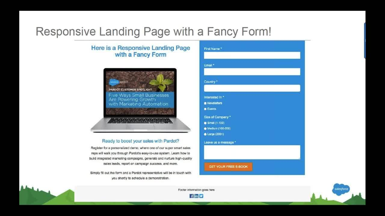 Pardot Responsive Forms Landing Pages A Step By Guide Office Hours