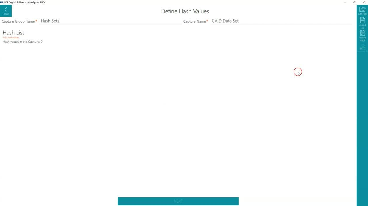 How to Add CAID Hash Set Data to an ADF Search Profile