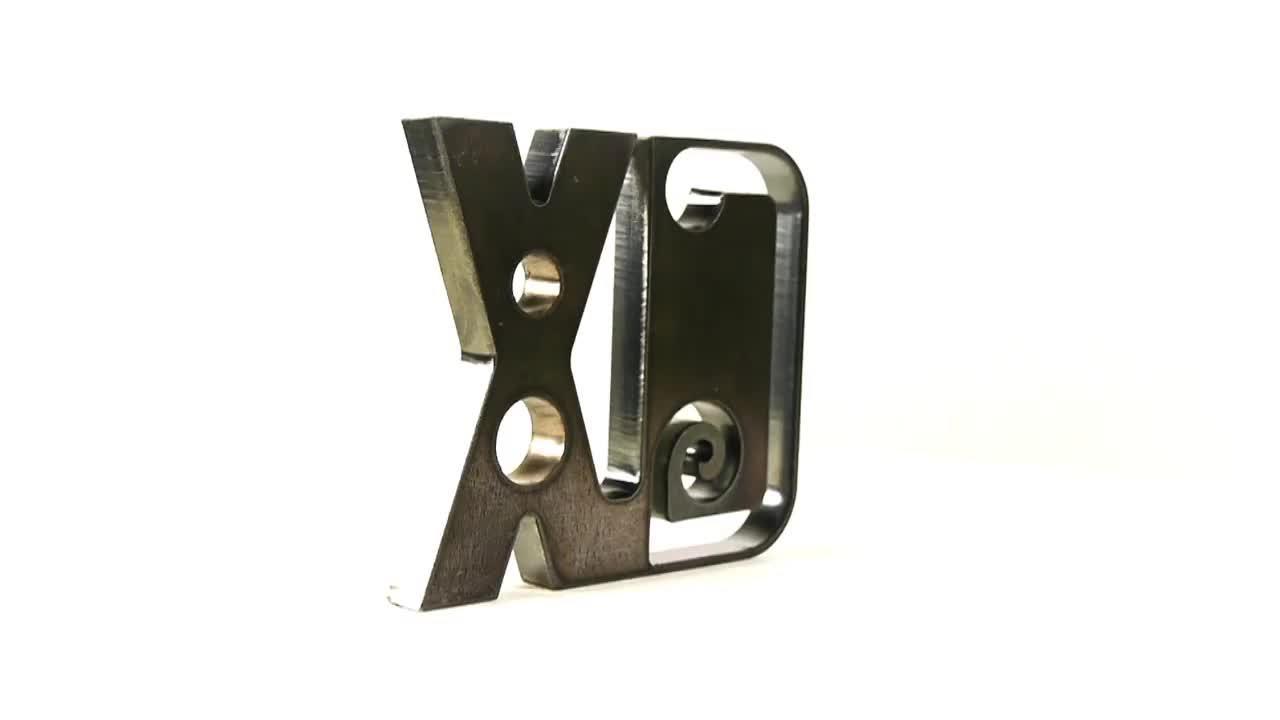 HPRXD sample 12 mm (.5 in) mild steel