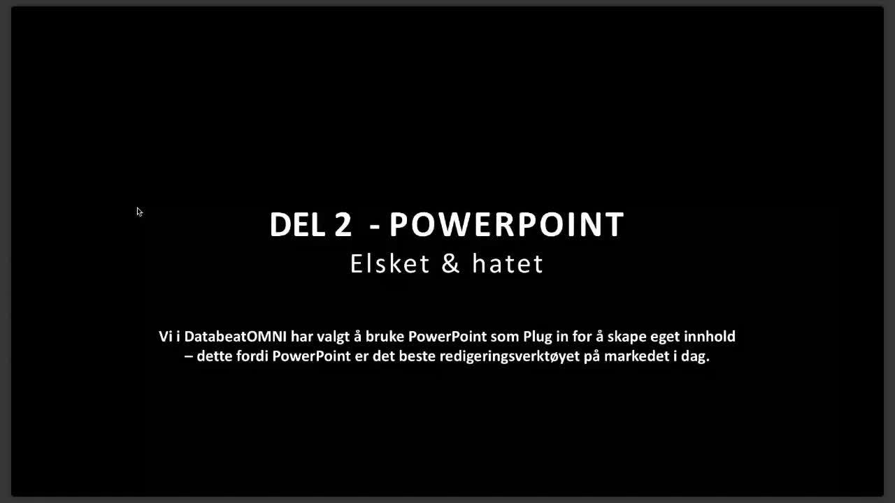 Webinar om Innhold 26 PowerPoint. Foredragsholder Cecilie Rubach