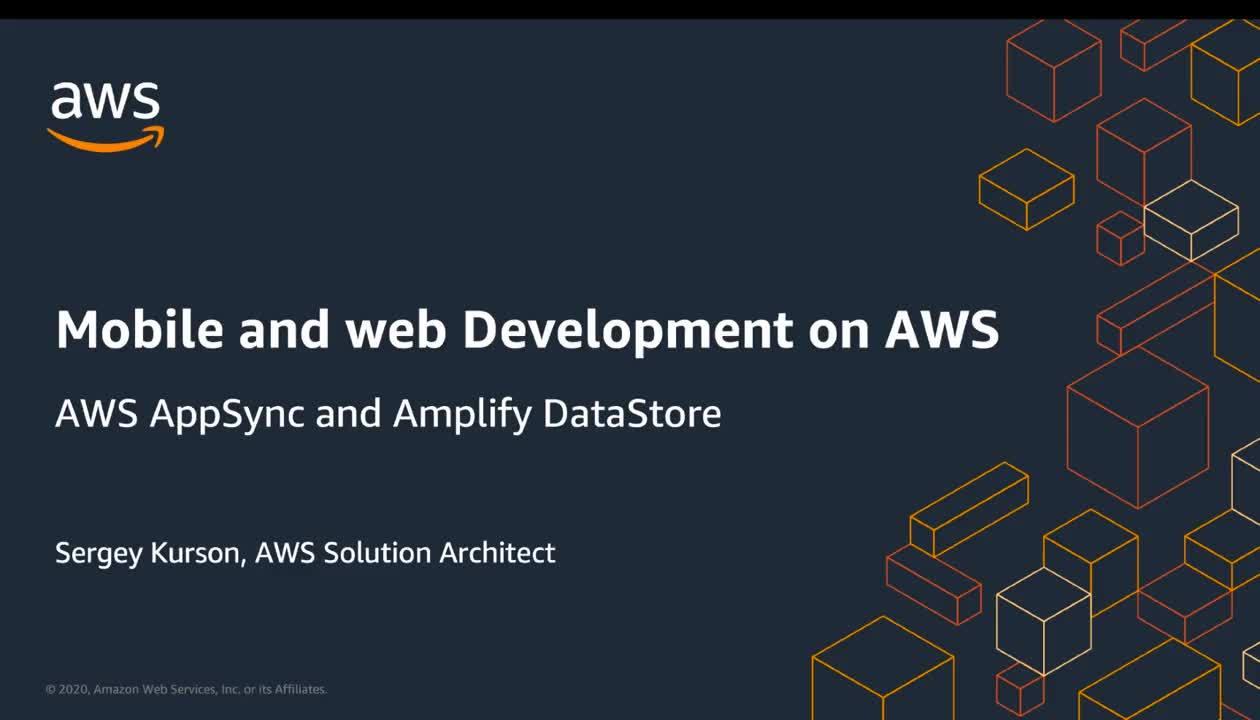 11.06.2020 | 11:15 Мобильная и веб-разработка с AWS AppSync и Amplify DataStore