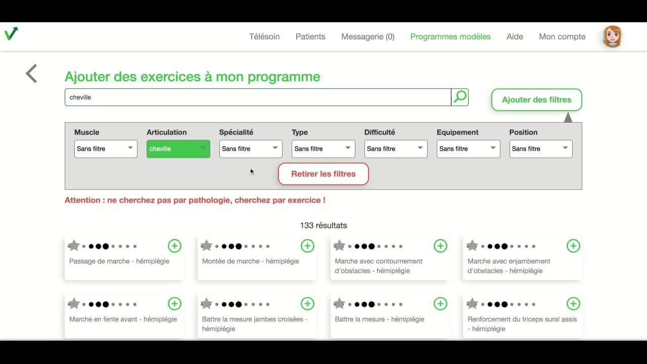 Praticien - creer un programme modele
