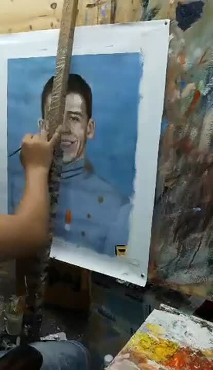 1LT Daniel Hyde Painting Video 3