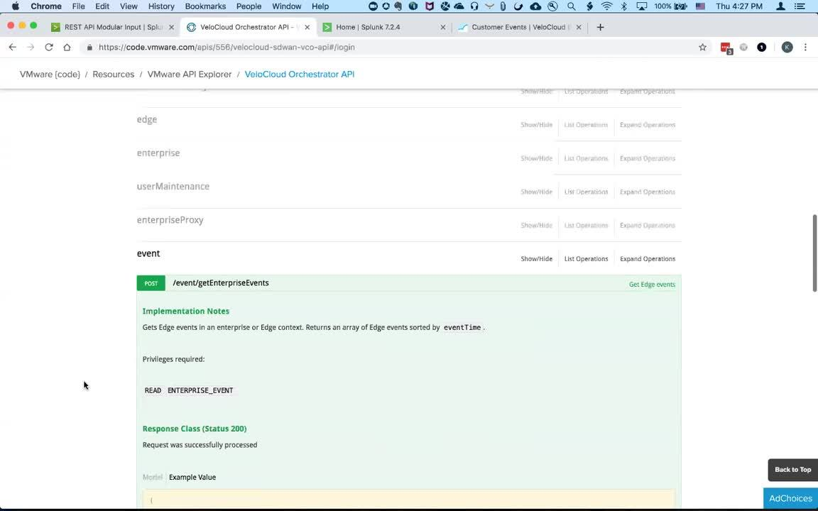 Using a Custom Splunk App to Pull Enterprise Events from VMware SD