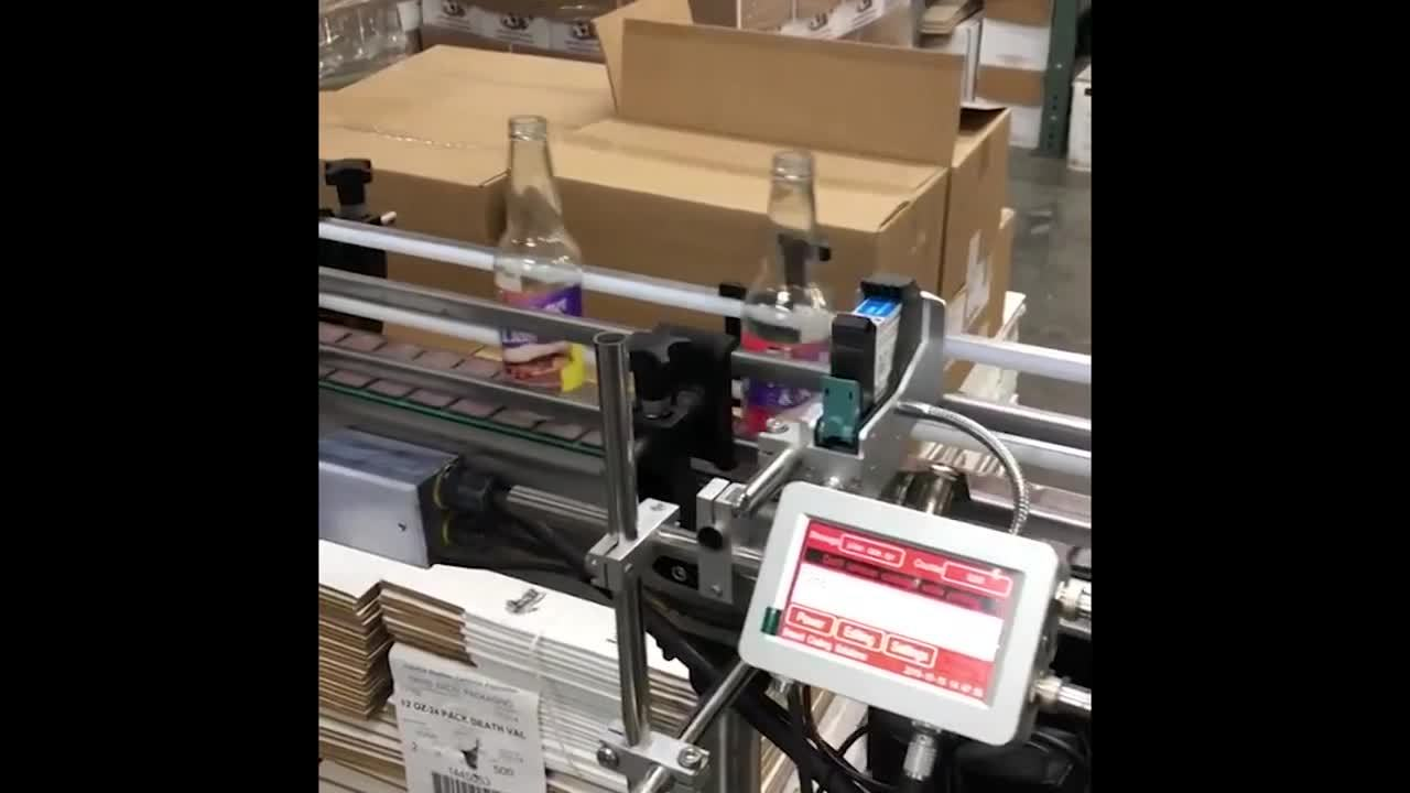 Meenjet MX1 Printer Coding Clear Glass Bottles