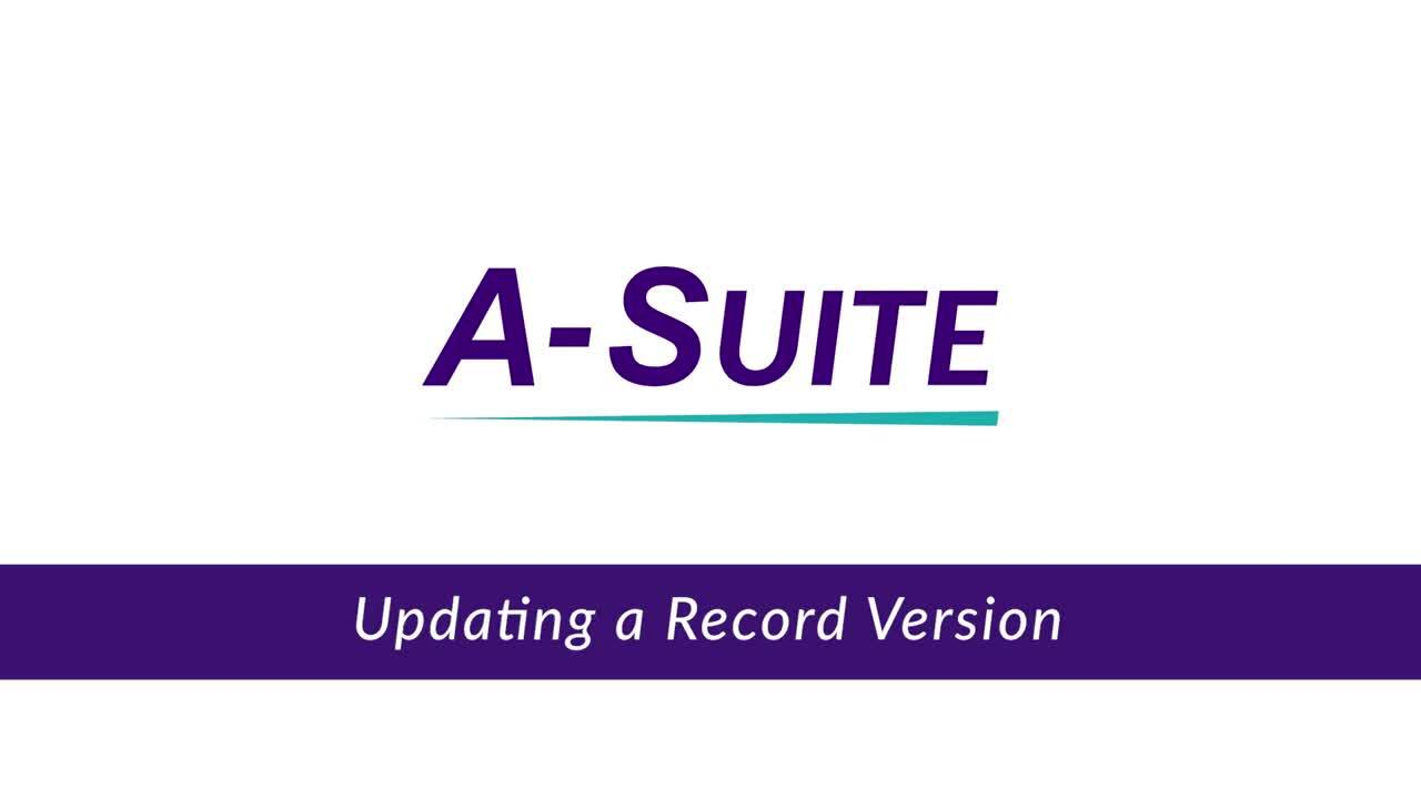 2.13_Updating a Record Version