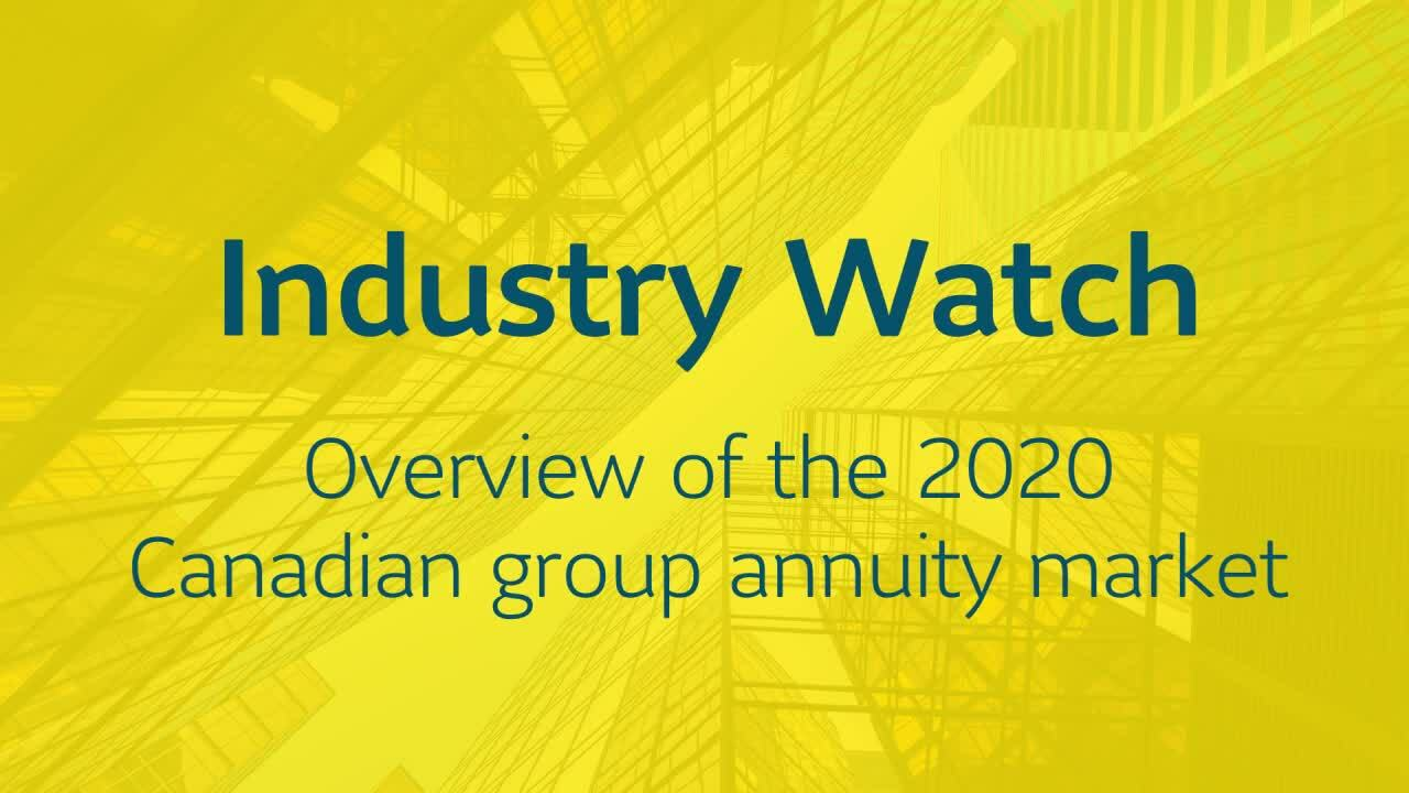Video that displays an industry watch infographic.