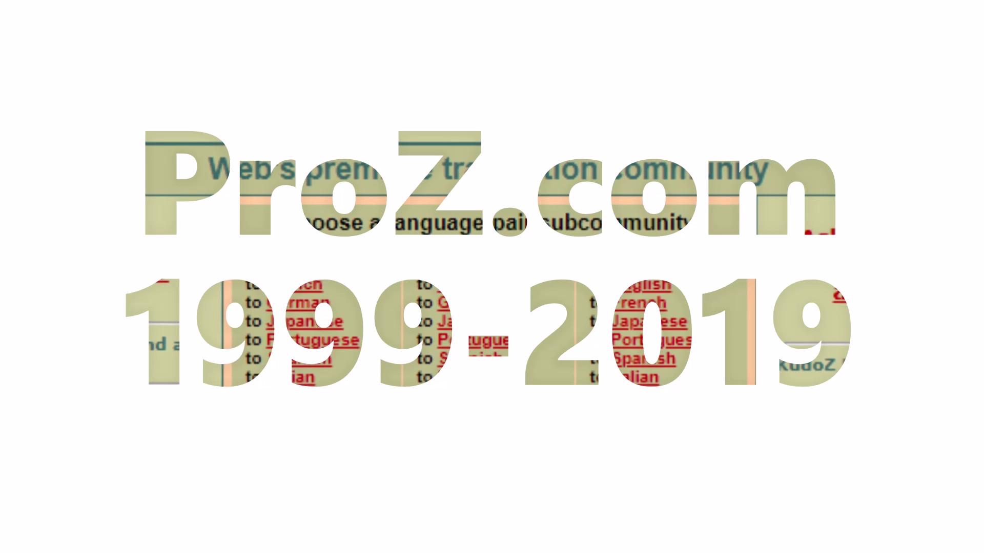 ProZ.com_1999-2019