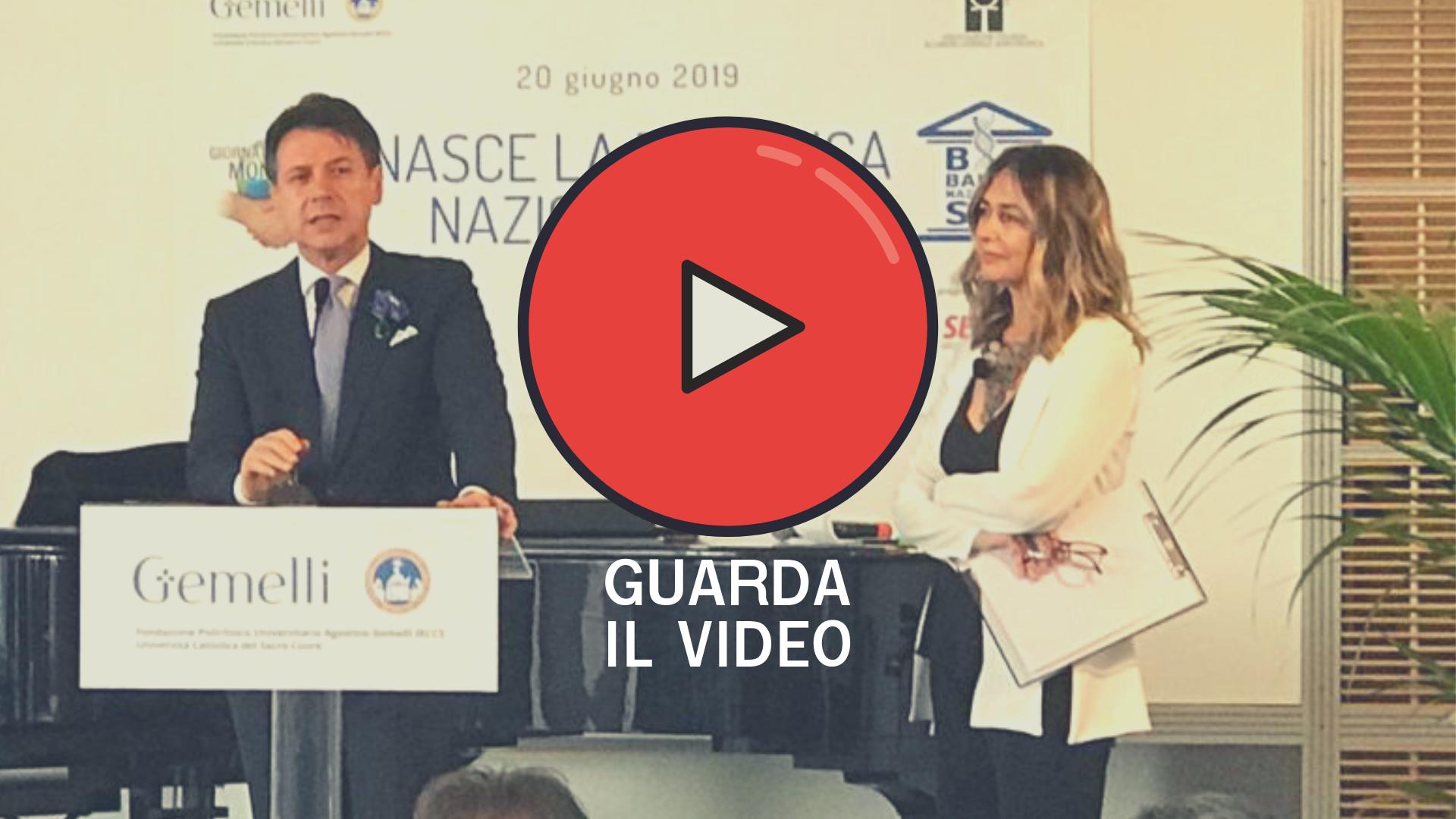 Giuseppe Conte Presidente Consiglio Sla Global Day NeMO Roma Biobanca Arisla onlus