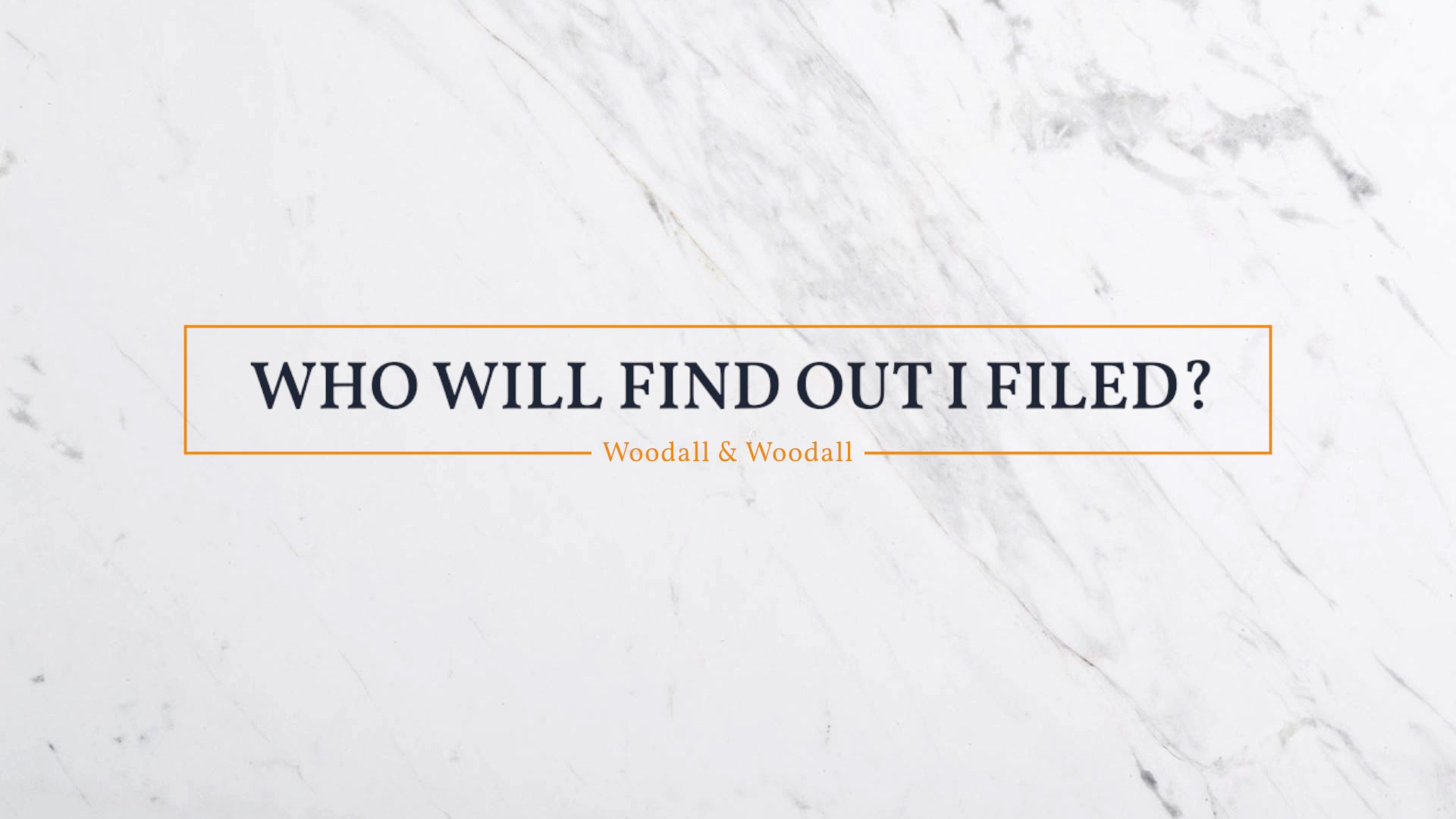Woodall - Who Will Find Out I Filed