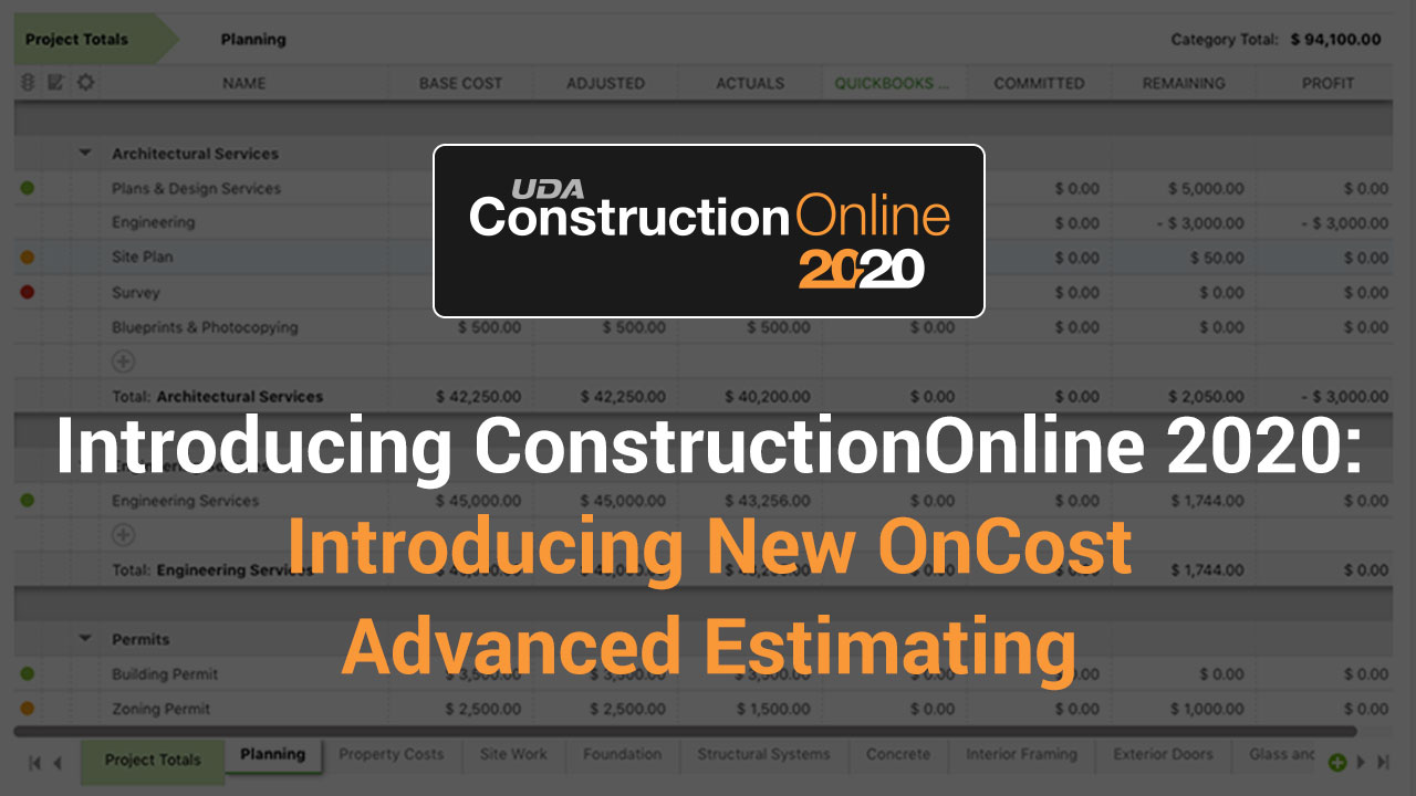 Meet New Advanced Estimating for 2020-1