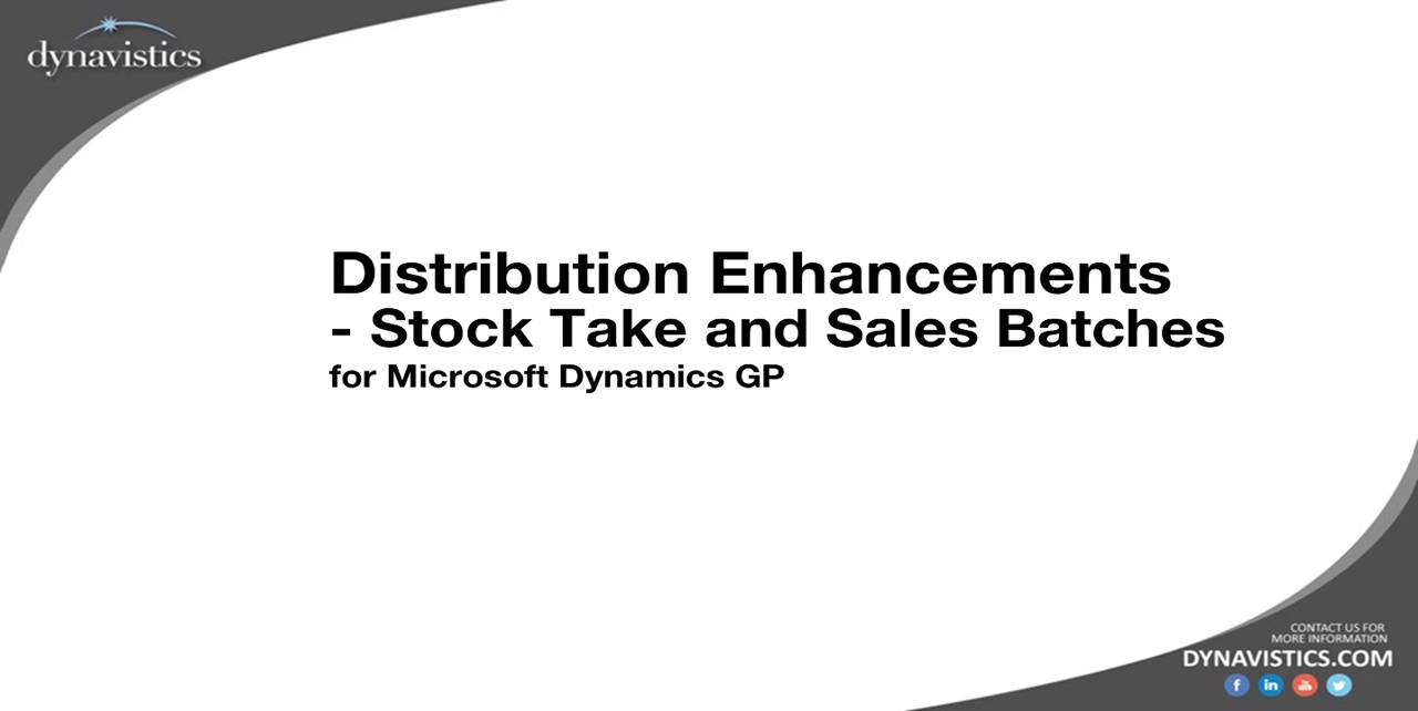 How to Improve Stock Take Process and Sales Batches in Dynamics GP