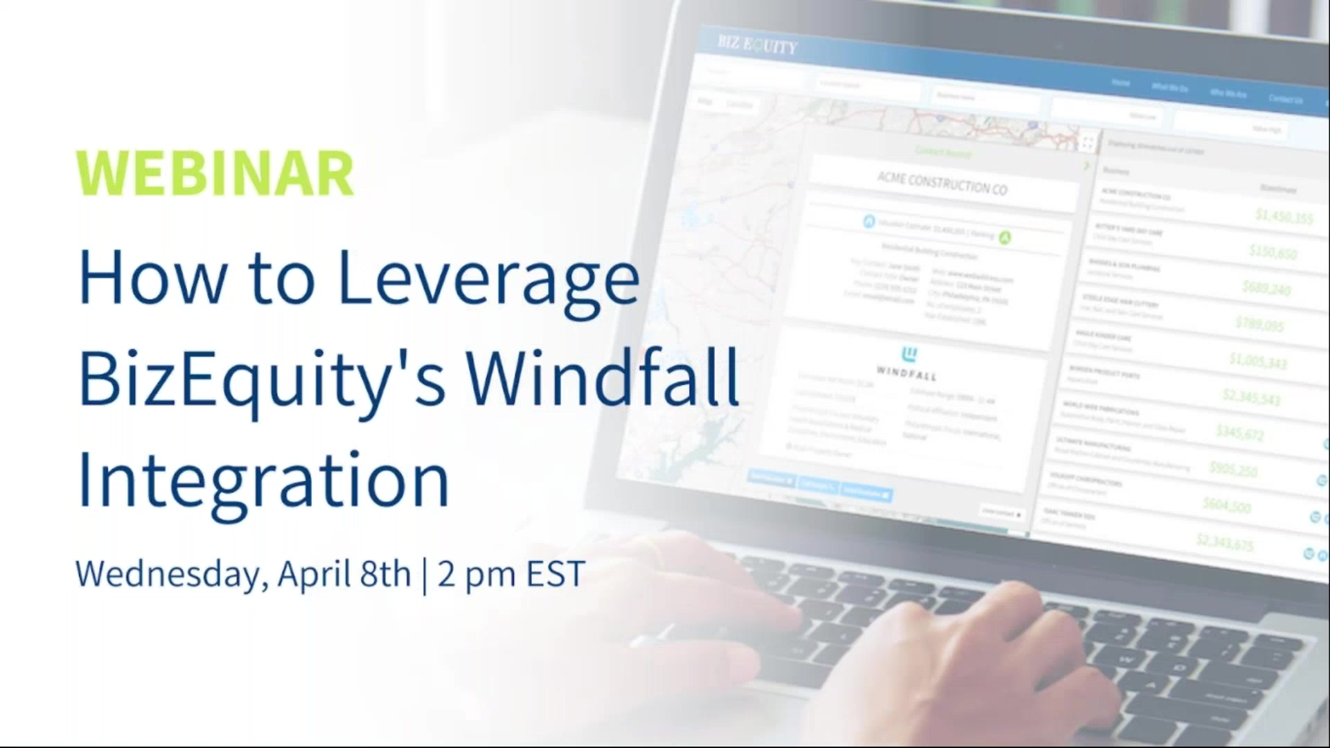 How to Leverage BizEquitys Windfall Data  Integration
