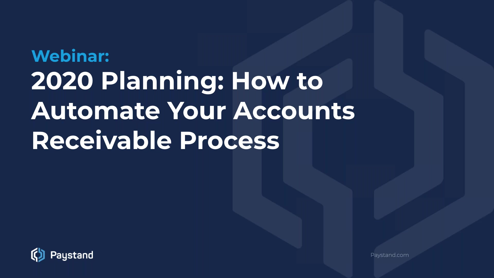 2020 Planning How to Automate Your Accounts Receivable Process