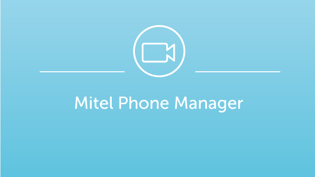 Mitel Phone Manager Demo