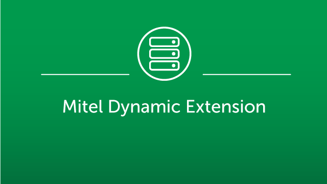 Mitel Dynamic Extension