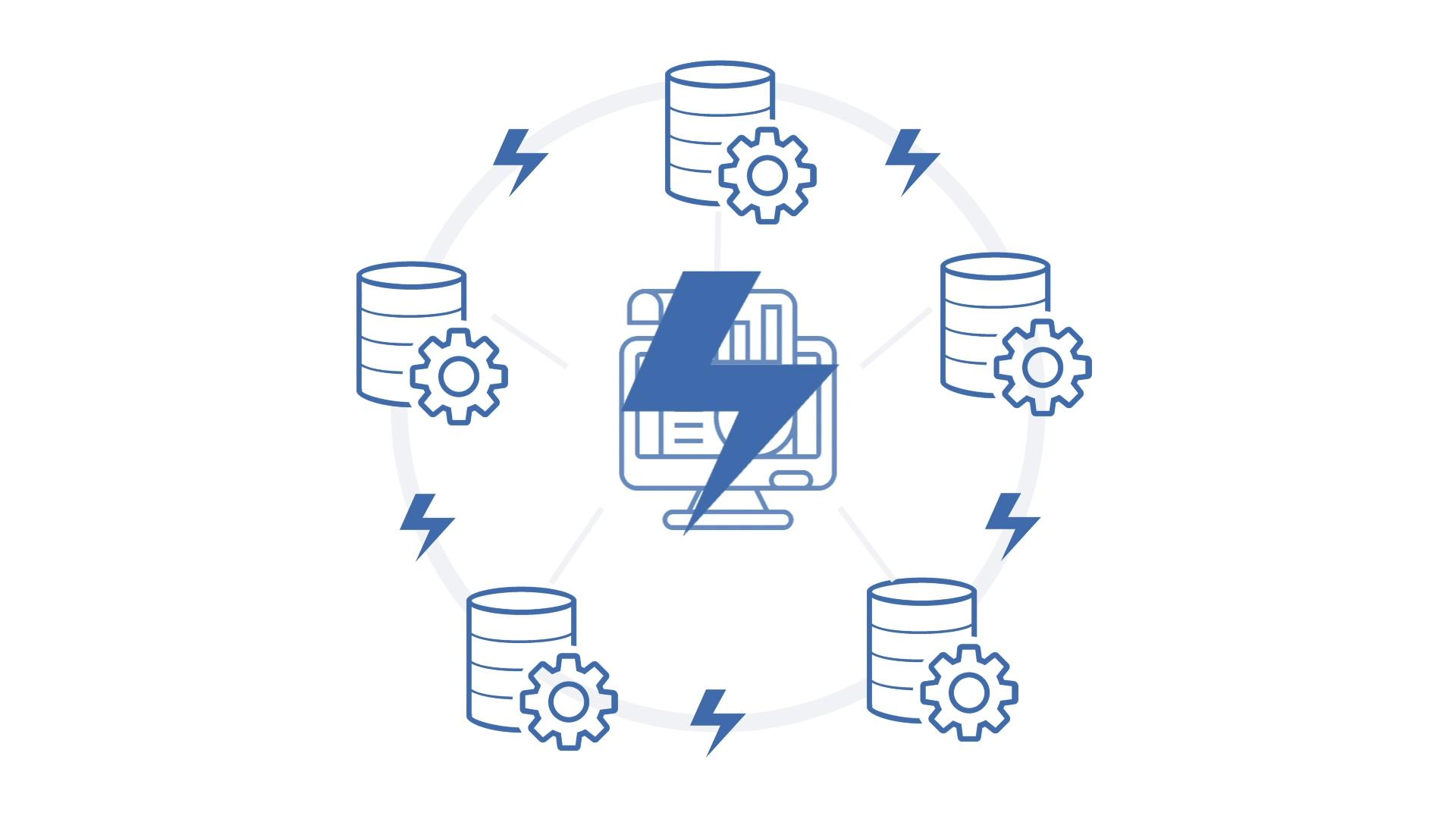 Visma Databas animatie - systemen integreren met de Databas aanpak - voorbeeld is not for profit